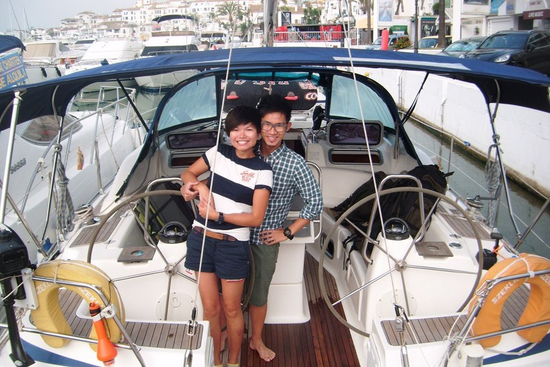 Bed and breakfast on the sailing boat in Puerto Banus